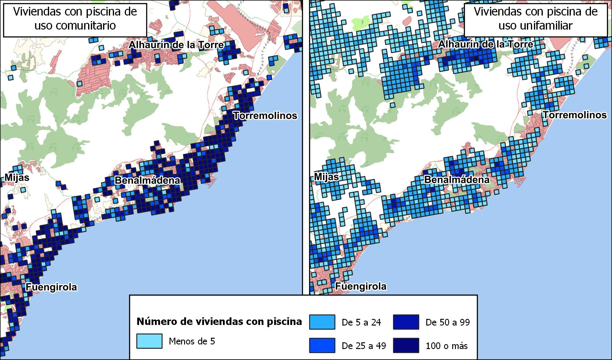 Uso de los edificios. Superficie construida con uso industrial. Málaga